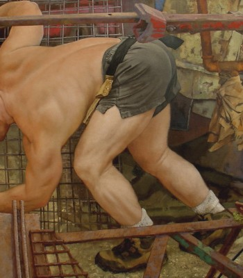 1The Cage, 107x 142cm, Oil on Canvas