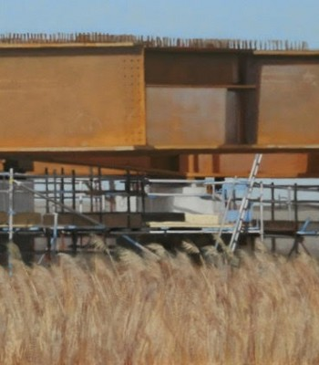 Steel and Sedge, 2018, 42 x 63cm, Oil on board