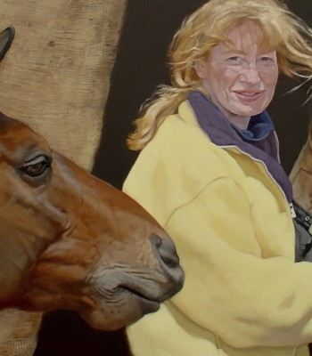 5Pip, Nell and Silky, 60 x 120cm, Oil on Board