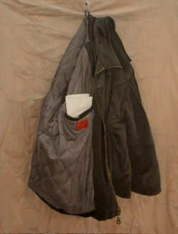 My Jacket, 76 x 60cm Oil on Board